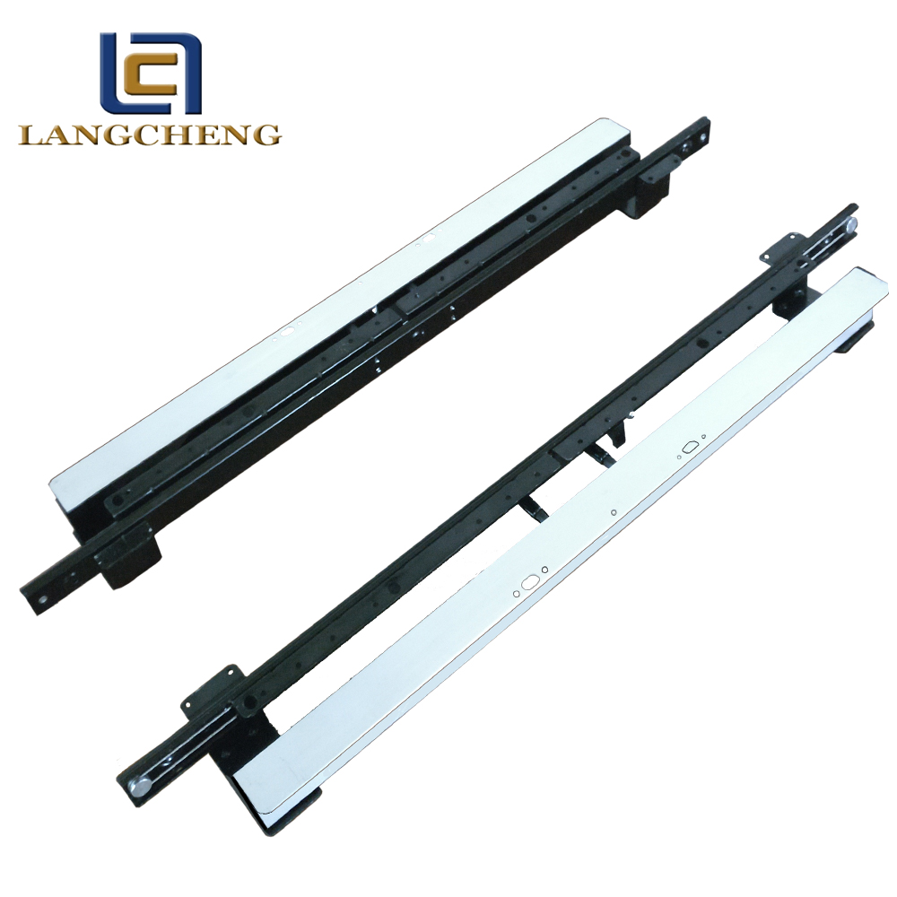 automatic lifting extendable dining table slide rail extension table mechanism