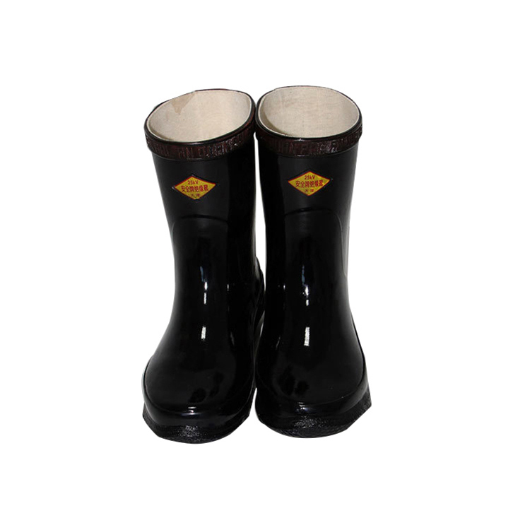 Men Waterproof Rubber Safety Working Insulated Boots