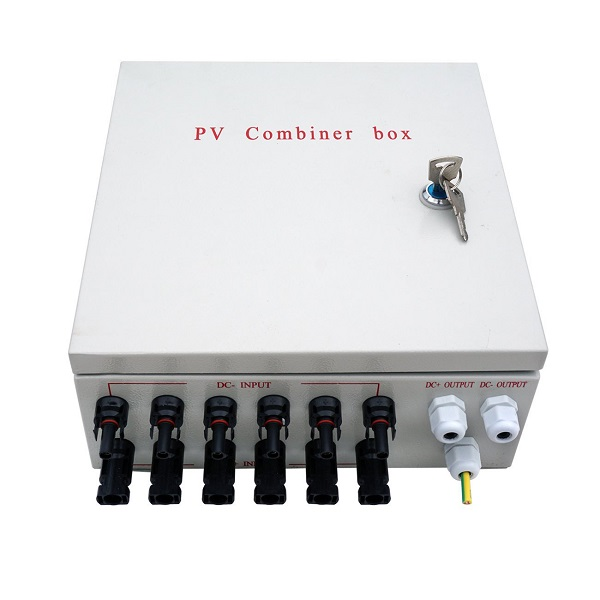 Pre-wired 6 String Solar Panel Combiner Box With 10A Circuit Breakers
