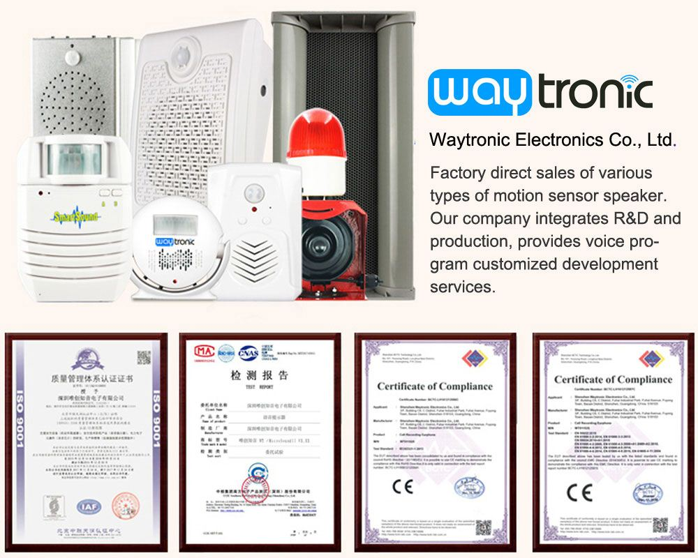 voice player,you can choose Waytronicmotion sensor speakerf