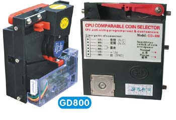 [GD]800 top insert coin acceptor hopper coin operated  machine