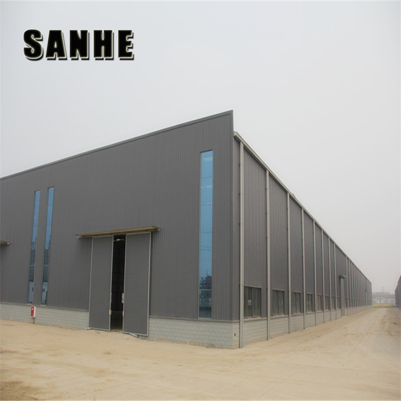 Prefabricated steel structure metal industrial warehouse buildings shed manufacturer with low cost