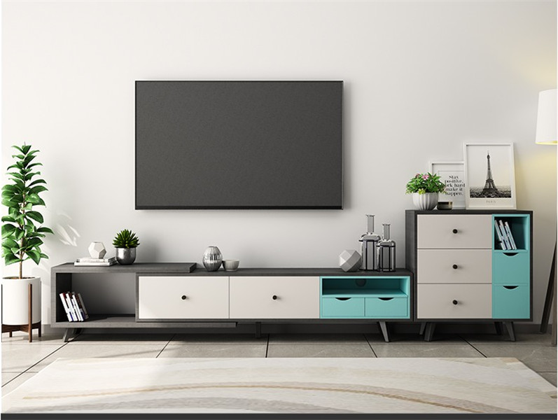 modern design wood melamine finish TV stand tv table