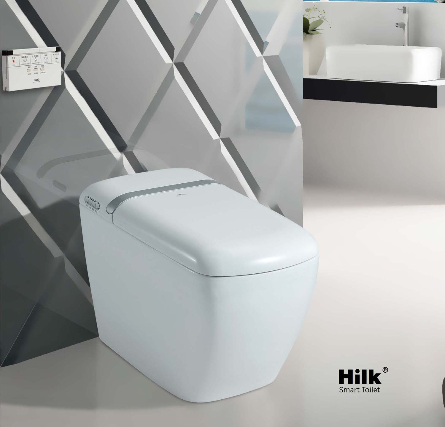 THB818 auto flip intelligent Toilet cover electronic bidet seat