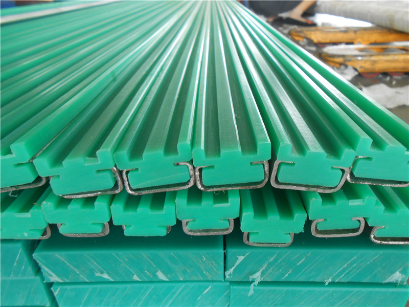 Anti wear uhmwpe chain guide for conveyor system