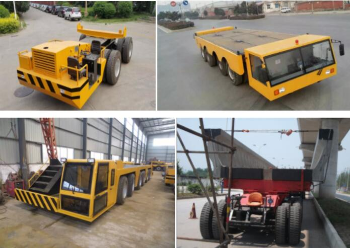 low price 200 ton to 300ton heavy duty machines transporter low bed concrete girders transport for sale