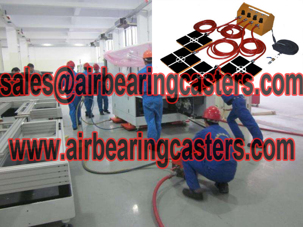Air pads for moving equipment suppliers information
