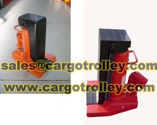 Hydraulic toe jack operating functions