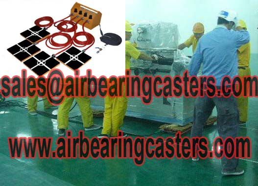 Air casters will protect your precise equipment