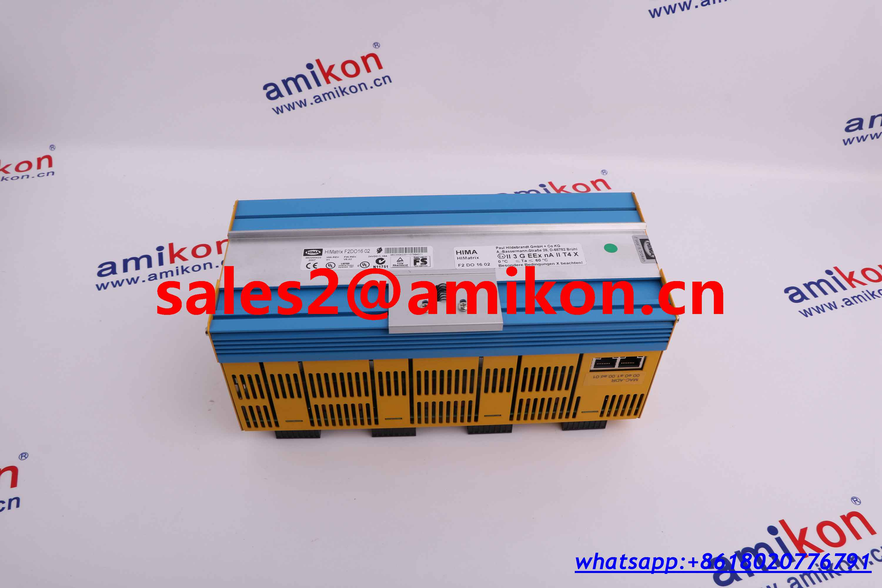 HIMA PN: 981621502 F6215 8 CHANNEL ANALOG INPUT MODULE. FOR CURRENT AND VOLTAGE ,PT100