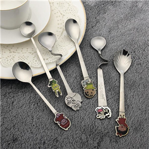 Customized metal bulk Cheap promotion gold stainless steel coffee spoon