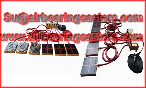 Air bearing rigging systems can be easily works on required floor surface