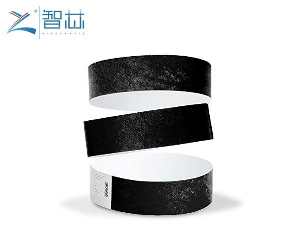 Customized Printing Flexible Tyvek Paper RFID Wristband