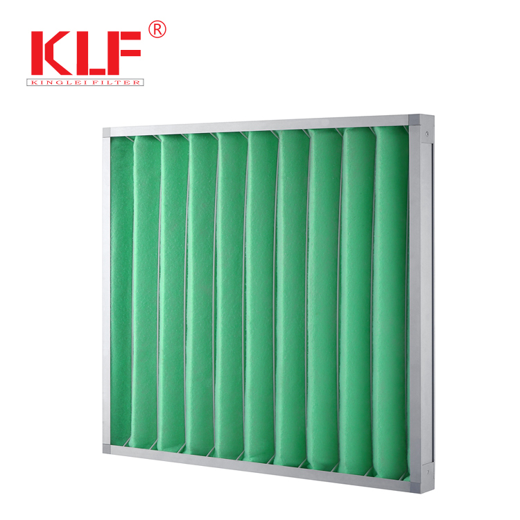 G4 China Industrial Commercial pleated Panel filter supply