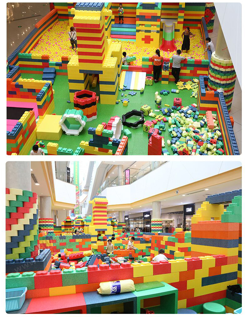 customize big kids DIY EPP soft bricks building playground environmentally baby/toddler EPP blocks YLW-EPP0335