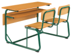 School classroom wood material double desk and chair furniture