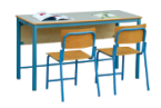 School double seater desk and chair in good price