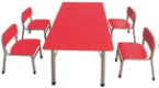 Kindergarten Modern Kids Study Wooden Desk Chair Furniture Set