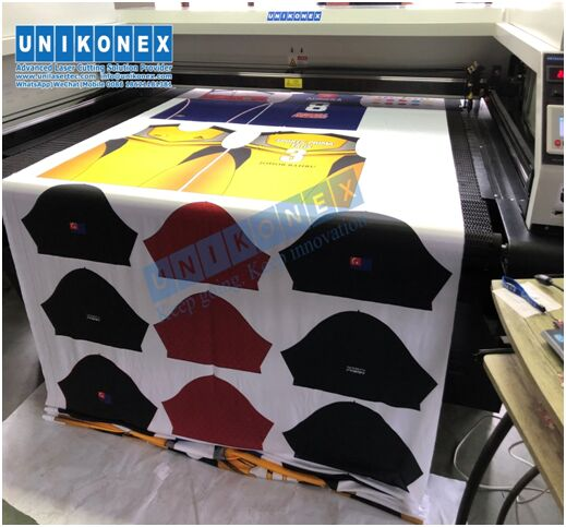 Sublimation printed sportswear laser cutting