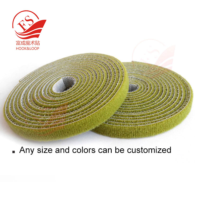 Colored double sided back to back hook and loop tape Colored double sided back to back hook and loop tape