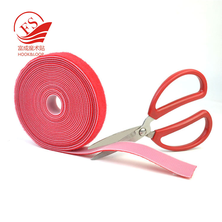 Bright colors sticky hook one side loop the others fastening magic tape custom