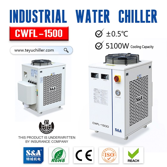 S&A laser water chiller CWFL-1500 specially designed for cooling fiber laser