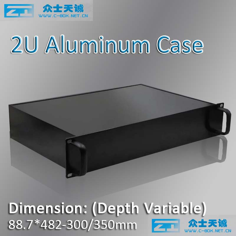 2u/19 aluminum server chassis metal enclosure box shell