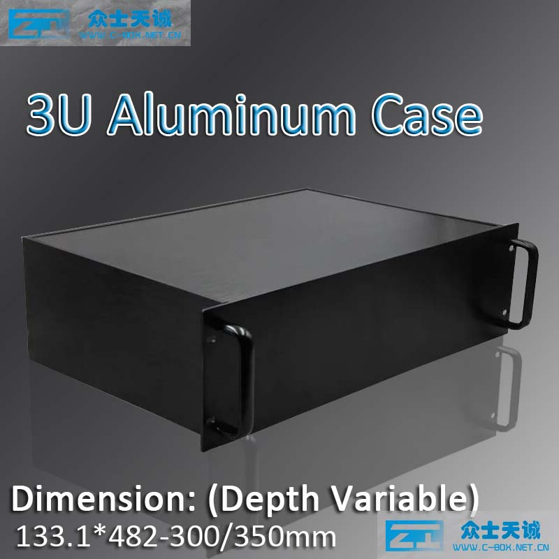 3U aluminum chassis metal enclosure 19 standard server case box