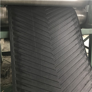 630/3 6+2 black depth chevron patterned conveyer belt for stone crusher