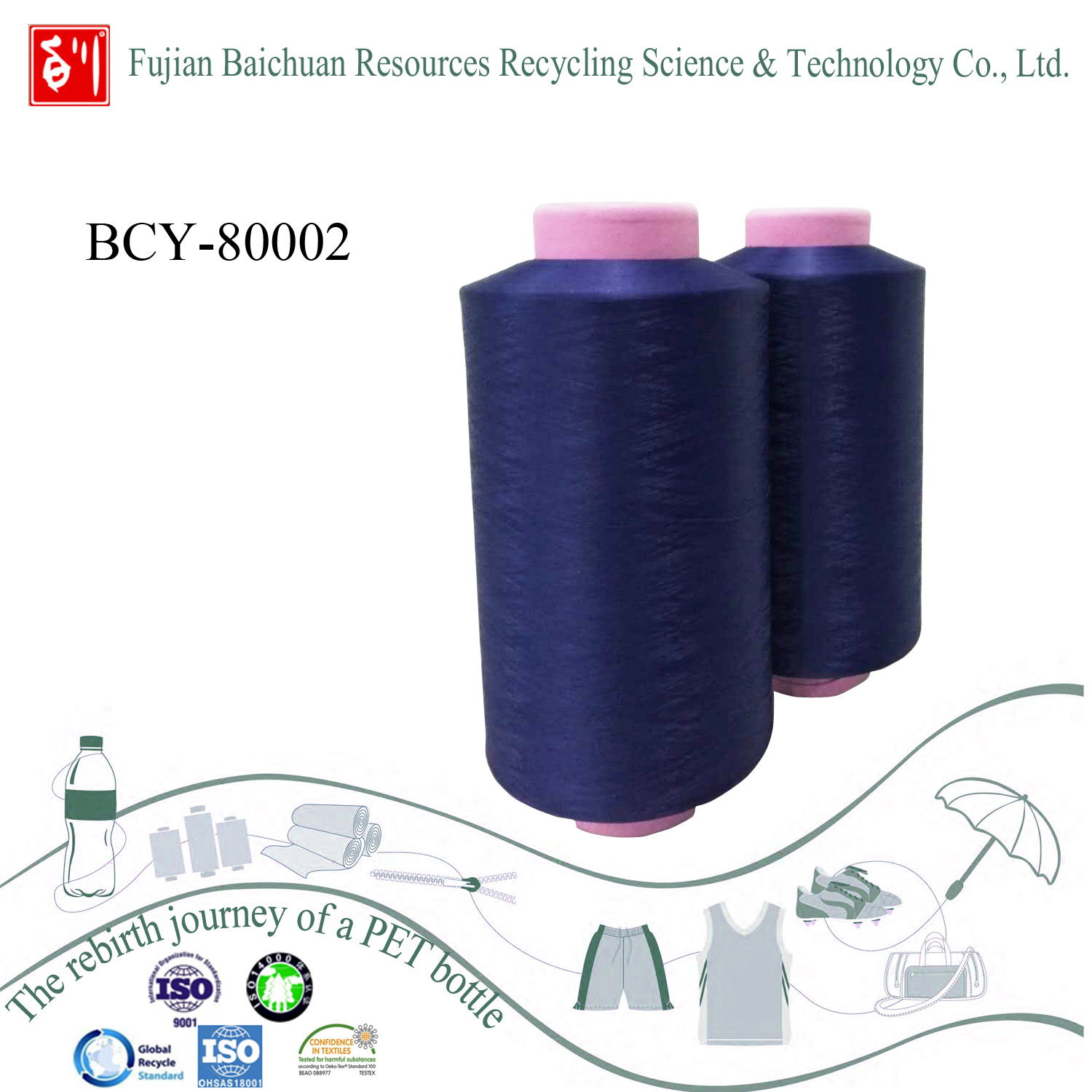 Recycled yarn with Environment-friendly material from China