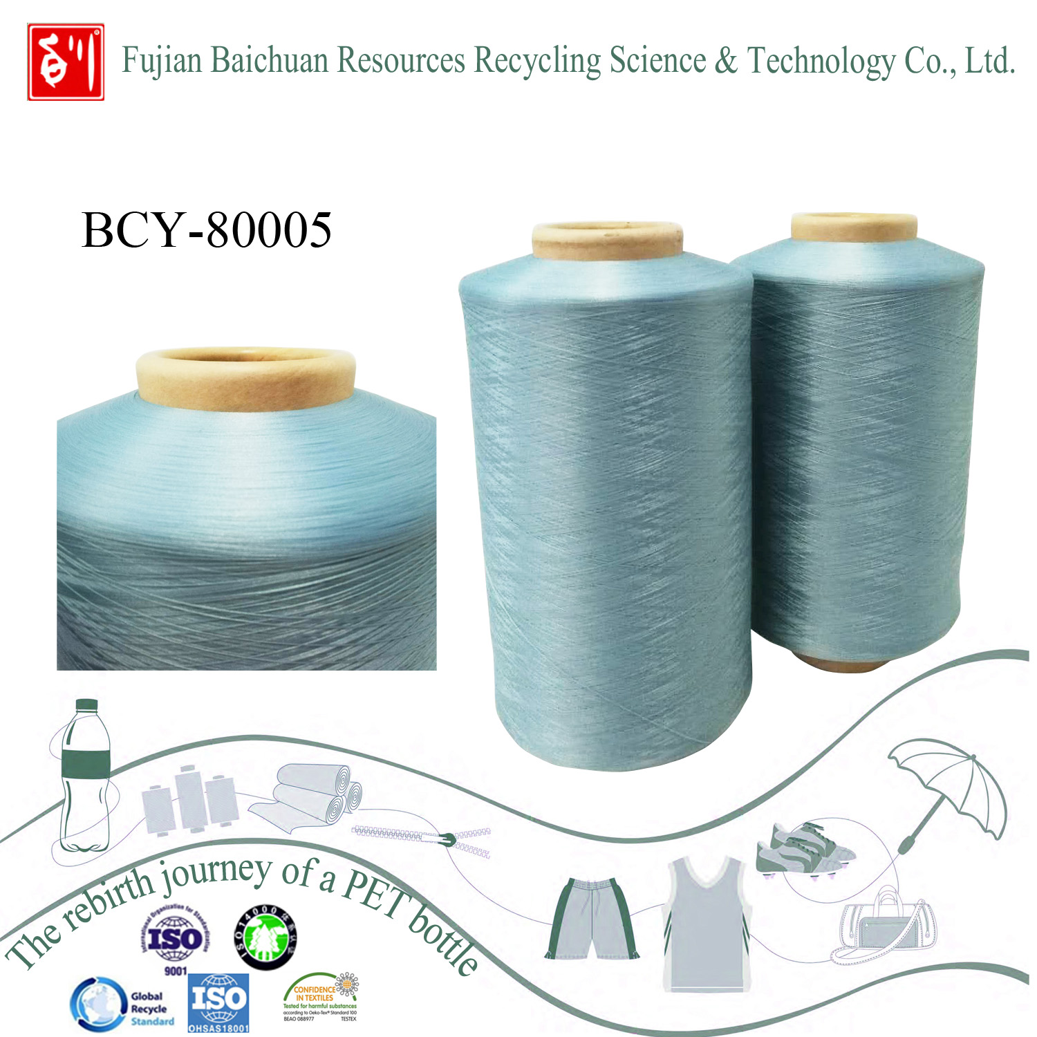 recycled polyester yarn with low price
