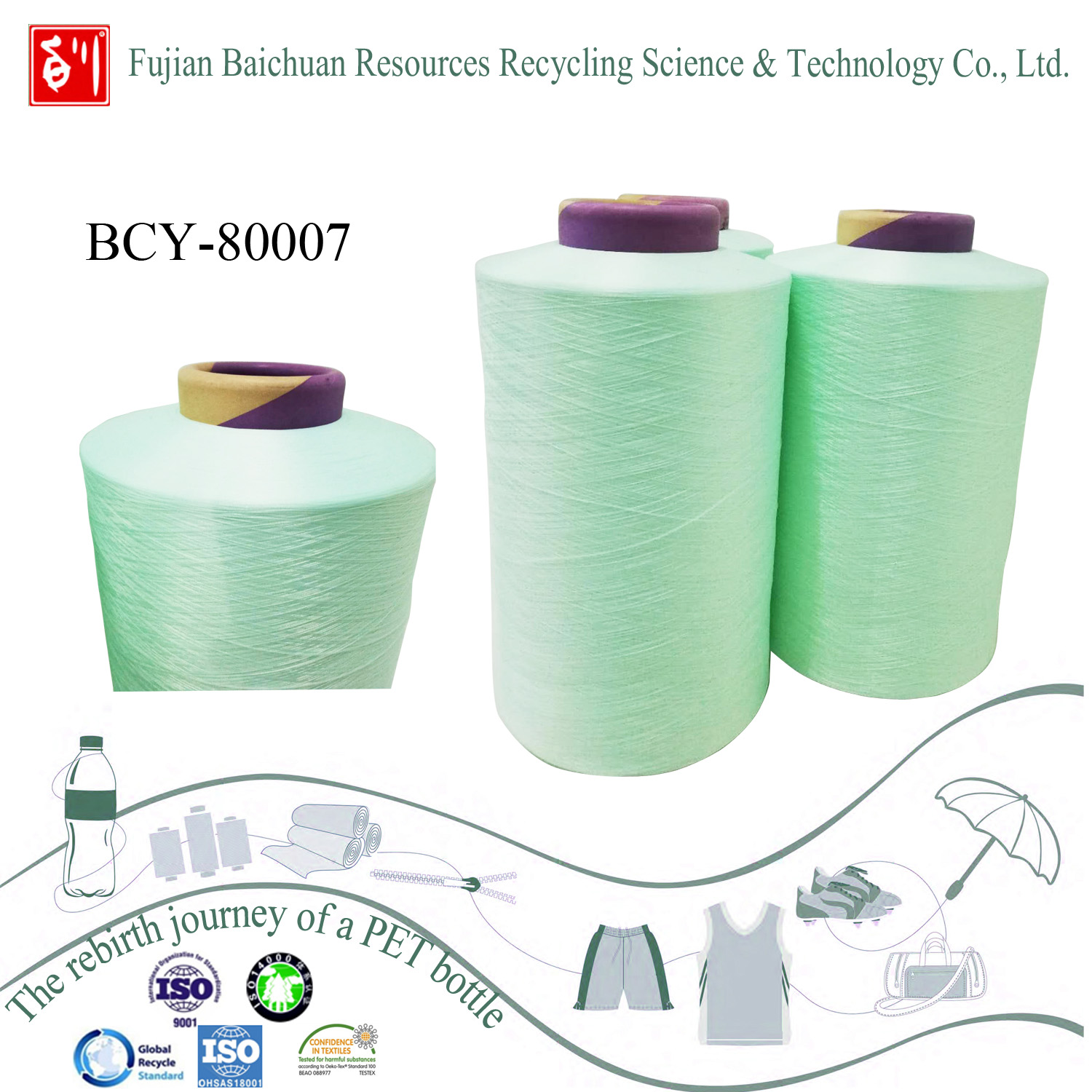 China Manufacturer polyester Recycled Yarn