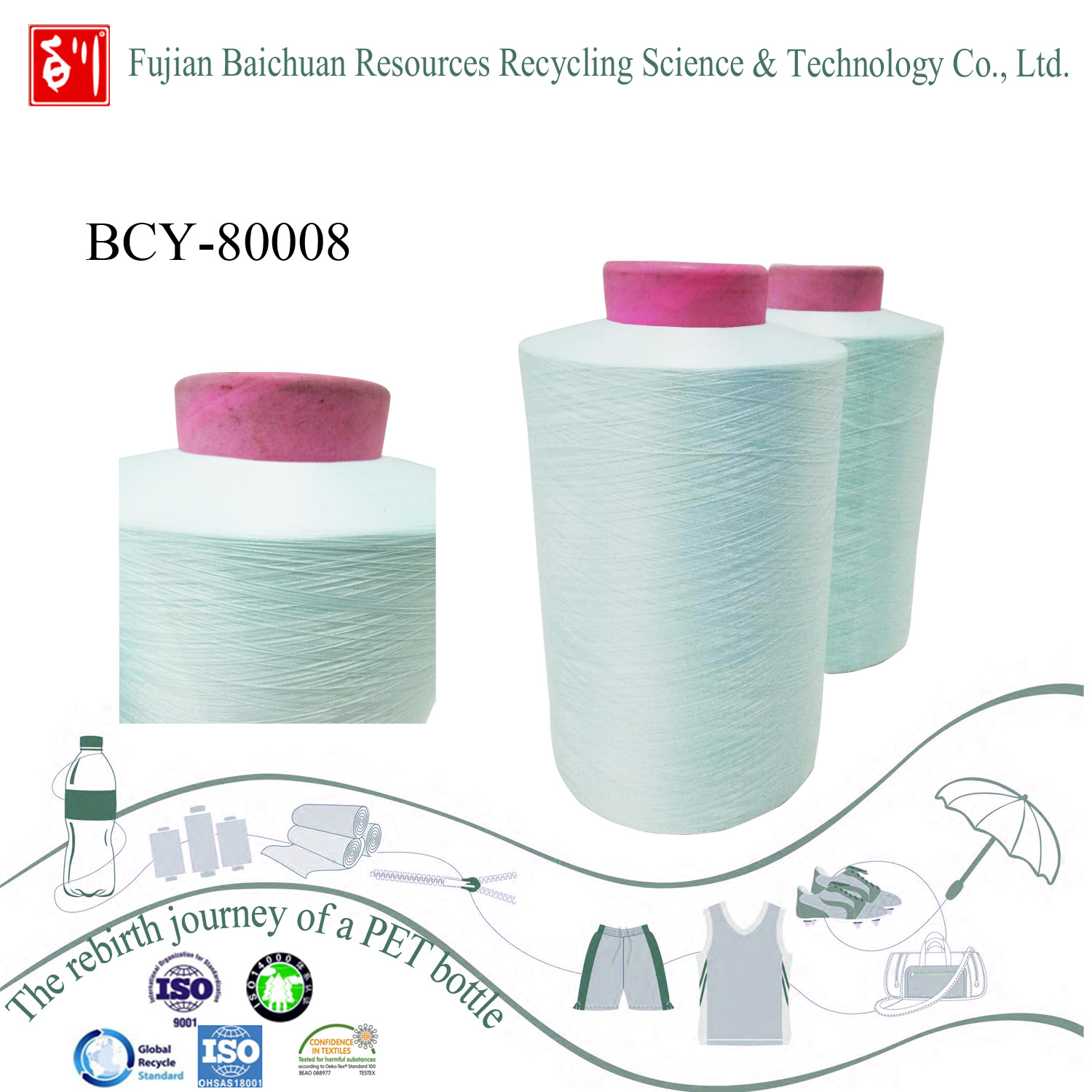 China yarn supplier high quality recycle polyester yarn