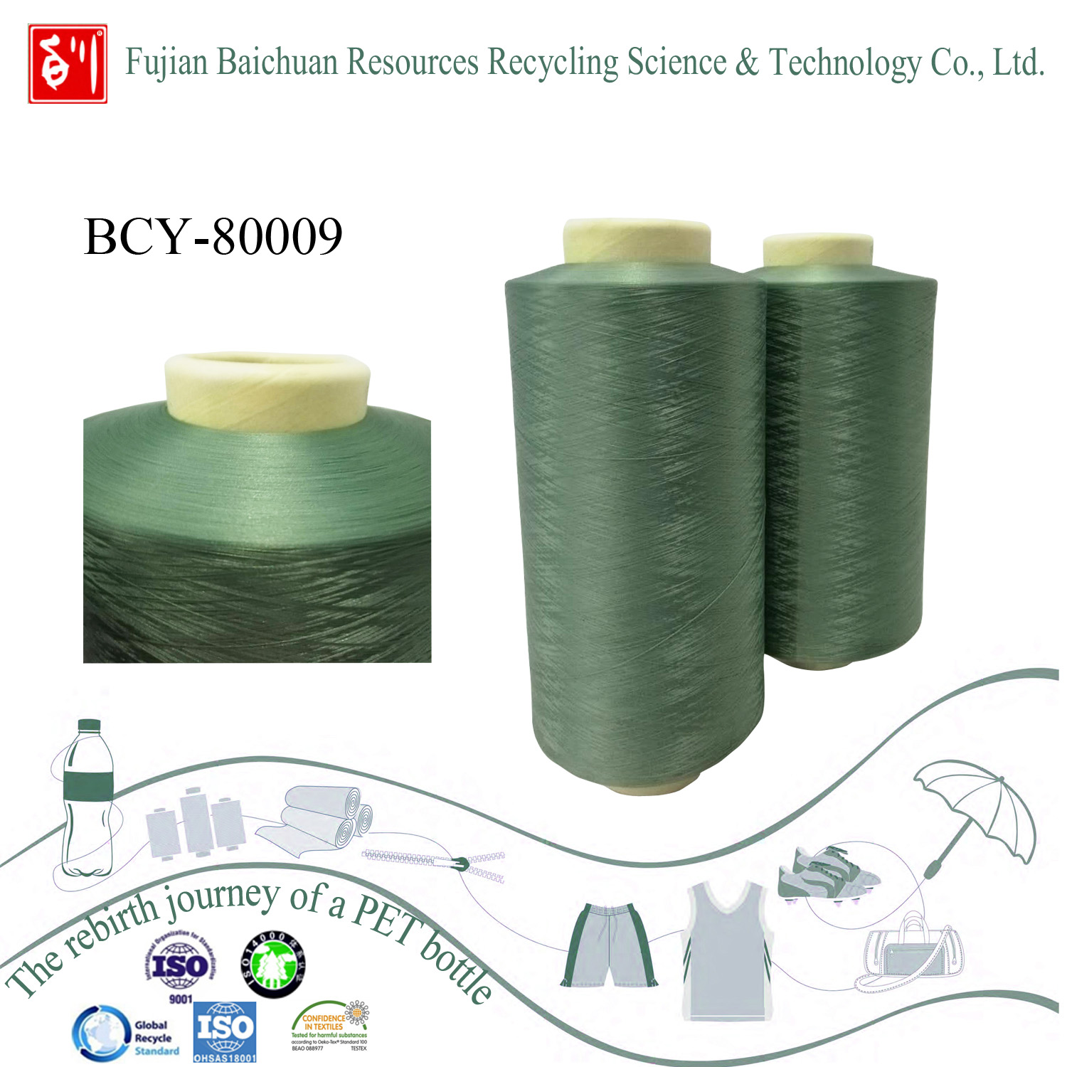 China yarn manufacture high quality recycle polyester yarn