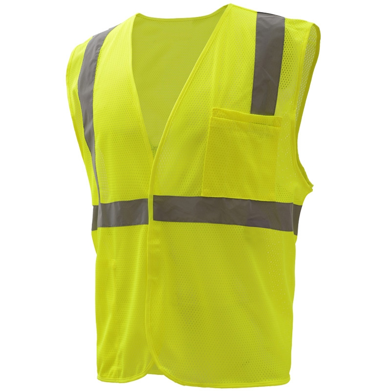 high visibility apparel/clothing Class II Mesh polyester mesh Safety Vest
