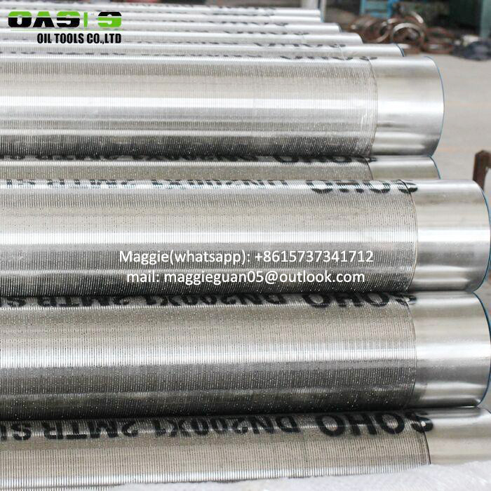 China manufacturer Gravel packed stainless steel multi packed filter well screen pipe