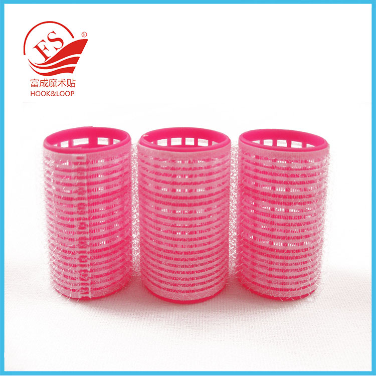Newest design good quality custom logo printed plastic hair roller