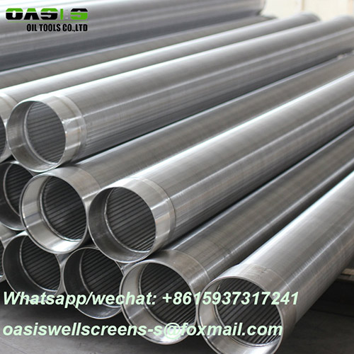 Slotted v wire wedge wire screen water well casing pipe for water well drilling