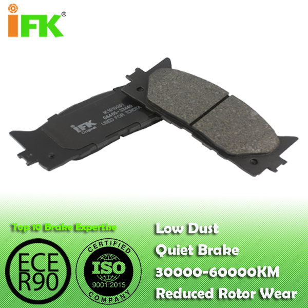 0446533440/0446506080/GDB3429/GDB7713/D1293/D1222  Semi-metallic/Low-metallic/NAO/Ceramic Disc brake pad manufacturer