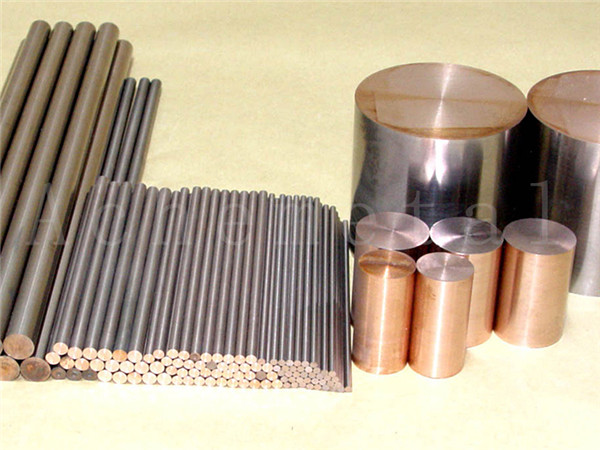 high-temperature arc erosion resistance electric conduction good heat conduction easy cutting Tungsten-copper