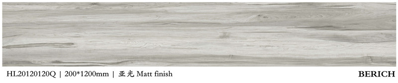Outdoor rustic matte porcelain floor tile non-slip wood look porcelain tile
