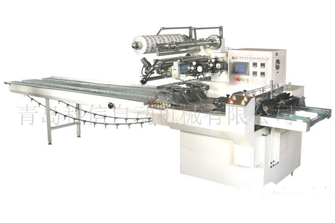 Double series automatic packaging machine for packing various solid objects