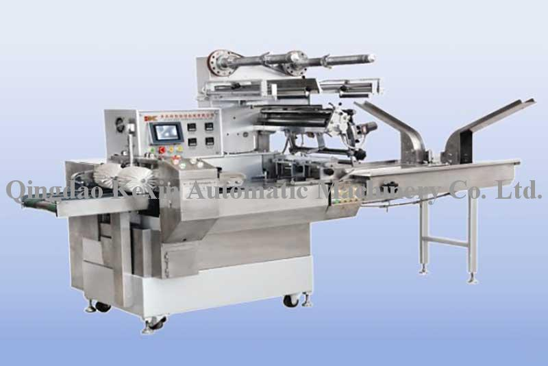 Biscuits double lane three frequency packaging machine(single piece or multiple pieces)