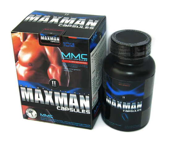 MAXMAN II 2 PENIS MALE HERBAL ENHANCEMENT CAPSULES