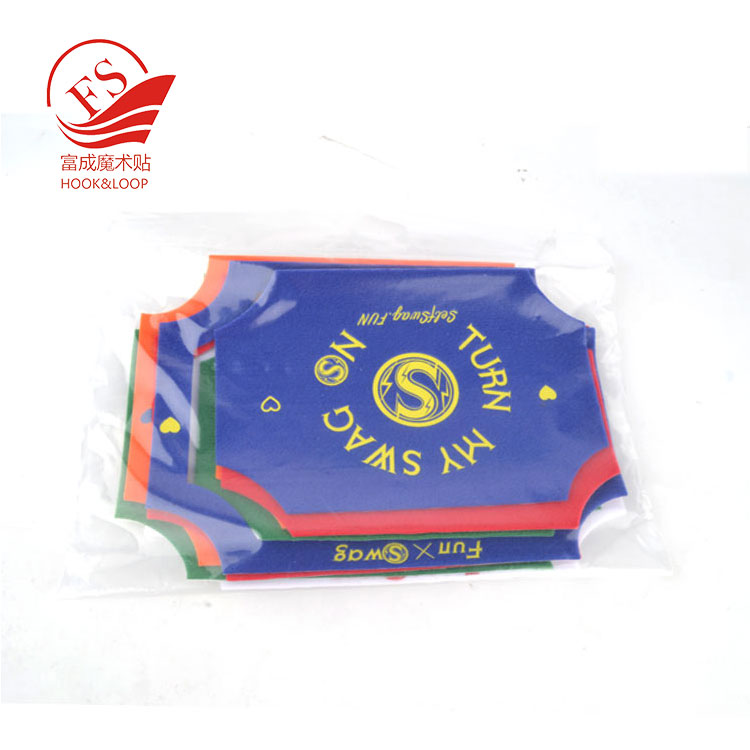 Custom packing soft loop cloth punching patch for widely use