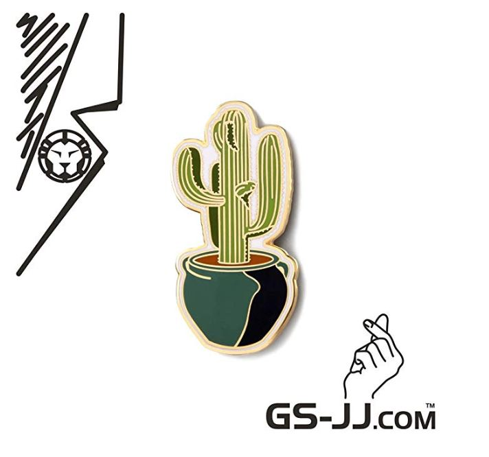 GS-JJ Succulents Cactus Custom Enamel Pins 1.5