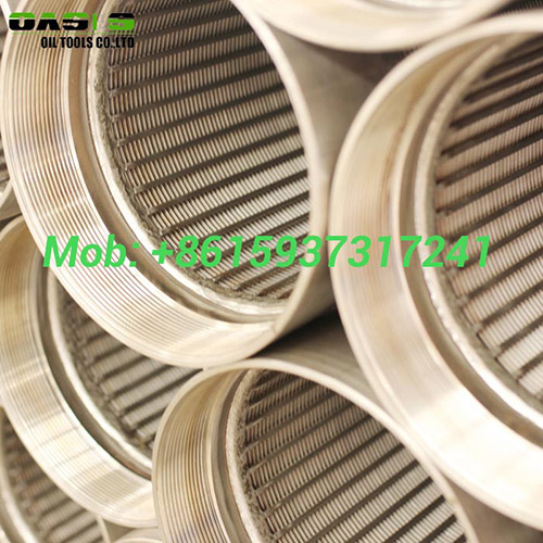 Continuous slot wire wrapped wedge wire screens