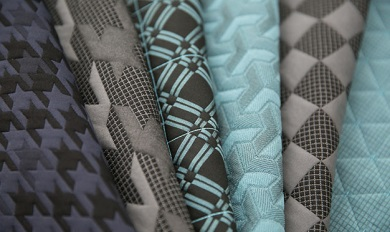 Triple Weave Jacquard Fabric