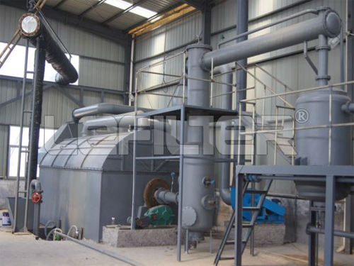 10T Waste Tyre Recycling Pyrolysis Plant