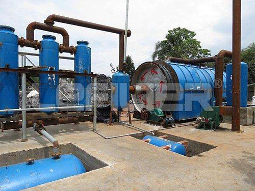 Waste plastic/tires recycling pyrolysis oil plant